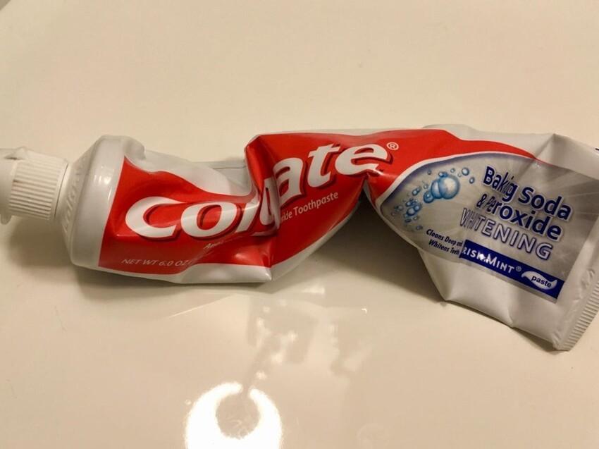 Так выглядит зубная паста в моём доме