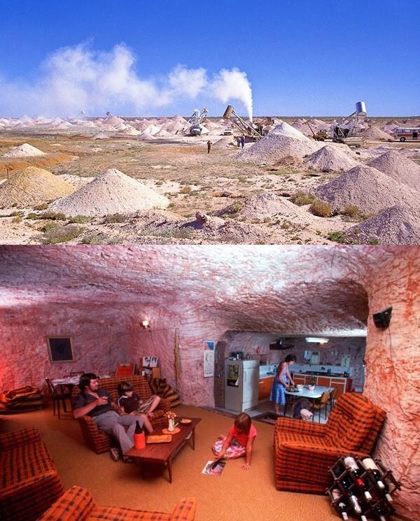 Кубер Педи, Южная Австралия. Подземный шахтерский городок, где добывают опалы