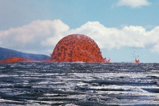 Огромный лавовый купол на Гавайях