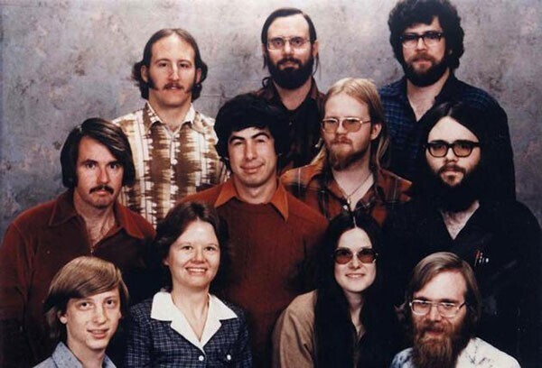7. Штат компании Microsoft в 1978 году