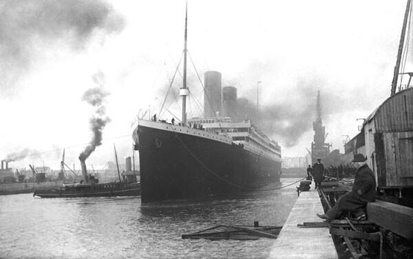 """42. """"Титаник"""" покидает порт в 1912 году"""