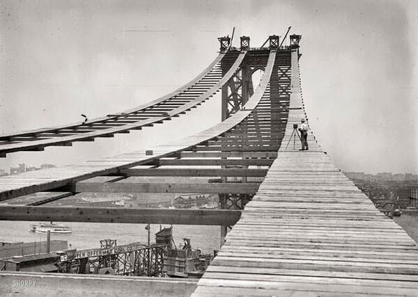 39. Строительство Манхэттенского моста в 1908 году