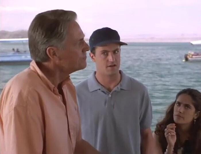 """Мэтью Перри и его отец Джон Беннетт Перри сыграли отца и сына в """"Поспешишь — людей насмешишь"""" (1997)"""