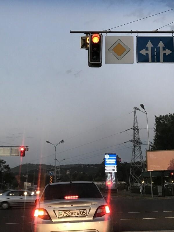 Скромный светофор