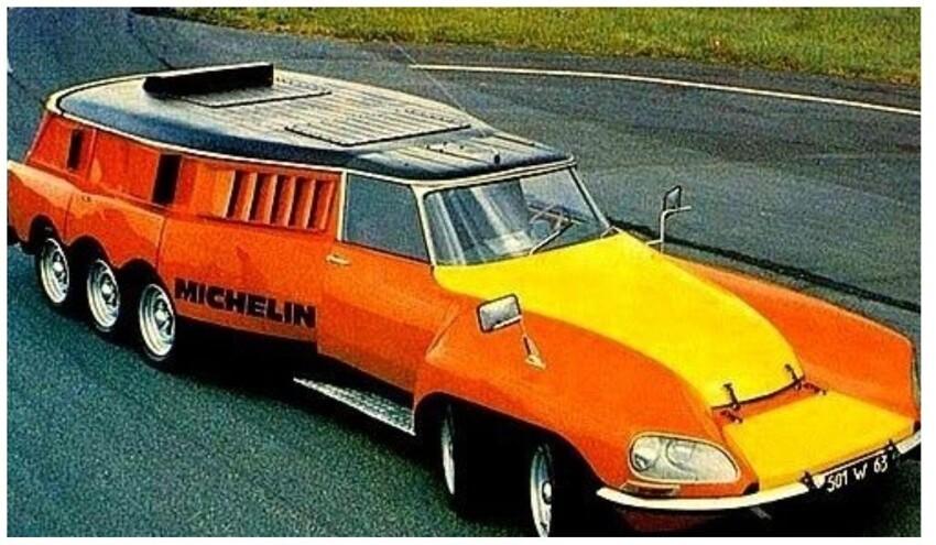 10-колесный футуристический автомобиль,Michelin, 1972
