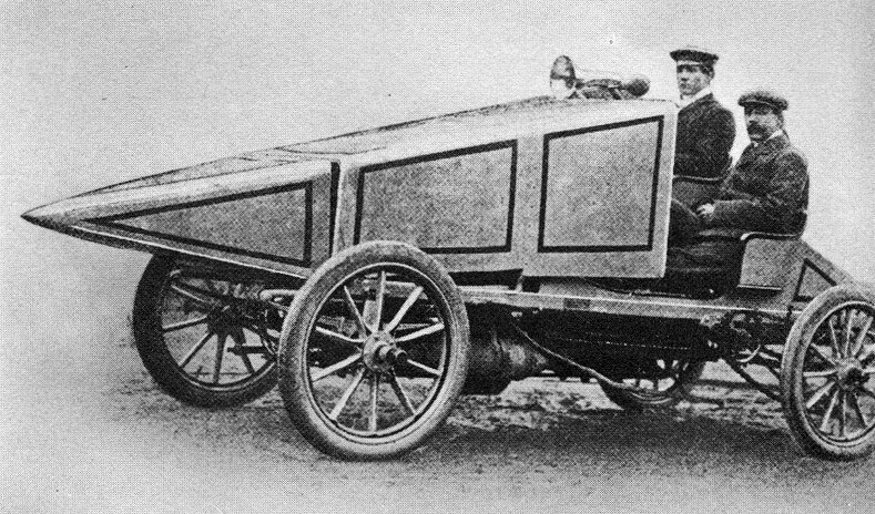 И гоночный автомобиль от General Motor Car Co. Ltd,  1902 - 1903