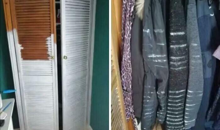 """7. """"А в Инстаграме эта идея освежить дверцу шкафа выглядела так легко и просто!"""""""