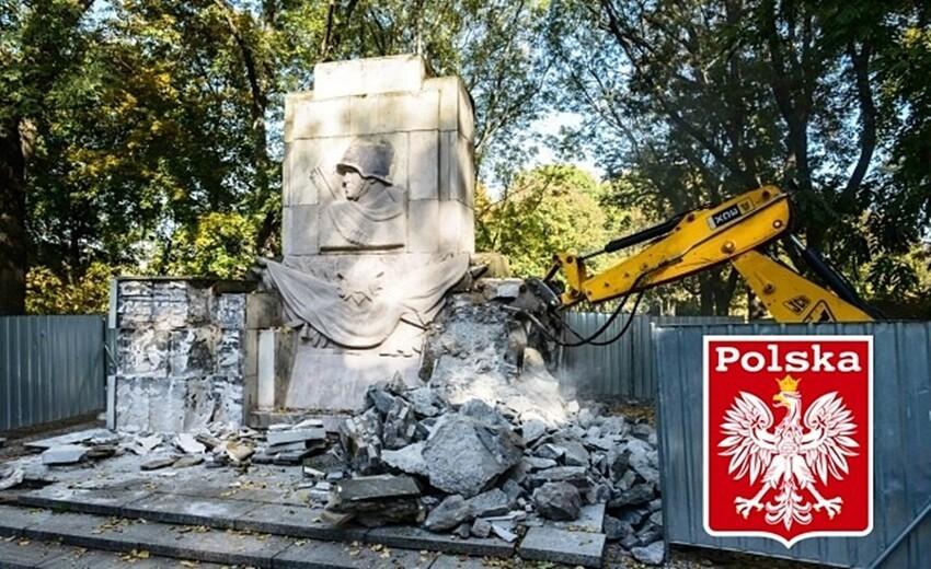 Снос памятника советским воинам в Польше