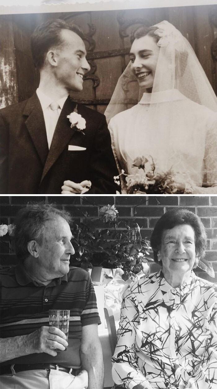 """5. """"60 лет вместе, и дедушка все еще смотрит на бабушку с любовью"""""""