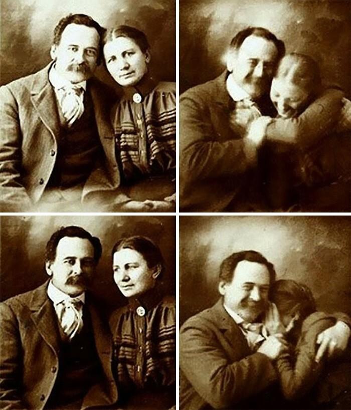 23. Пара в 1890-х годах не может сдержать смех, позируя для портрета