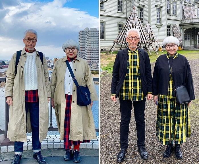 4. Супруги из Японии каждый день подбирают парные наряды