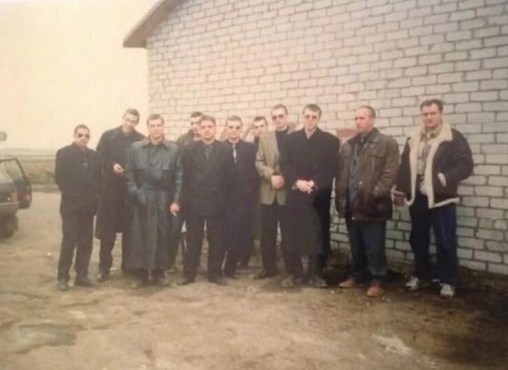 "20. Самарская ""бригада Махно"" на похоронах. 1997 год"