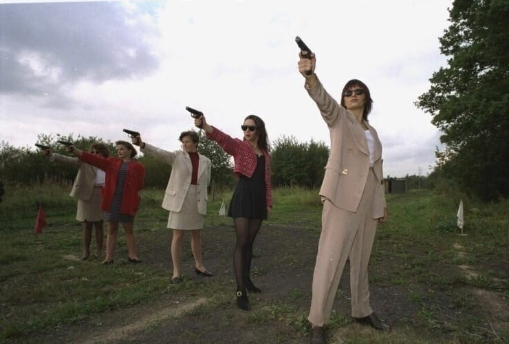 12. Тренировка в школе женщин-телохранителей. Санкт-Петербург, 1995 год