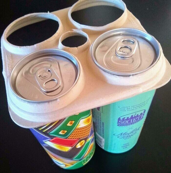 """""""Экологичное пиво, в котором обвязка сделана не из пластика, а из бумаги"""""""