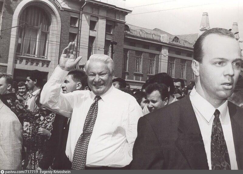 Б. Ельцин в Новосибирске