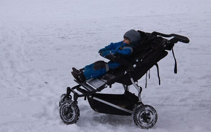 6. В скандинавских странах родители оставляют своих детей спать на улице в холодную погоду