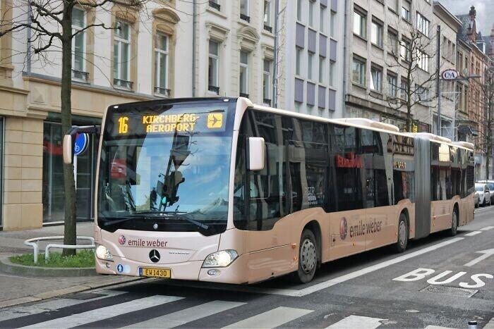 3. С 2020 года в Люксембурге общественный транспорт стал бесплатным