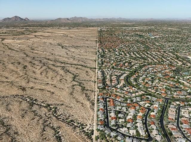 Граница между Скоттсдейлом, штат Аризона, и индейской резервацией Солт-Ривер