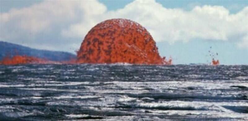 Огромный пузырь лавы на Гавайях 50 лет назад