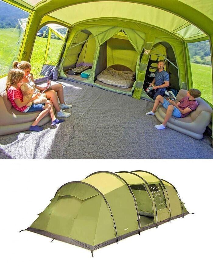 Палатка с отдельными номерами: теперь ты не разбудишь соседа, случайно наступив ему на руку!