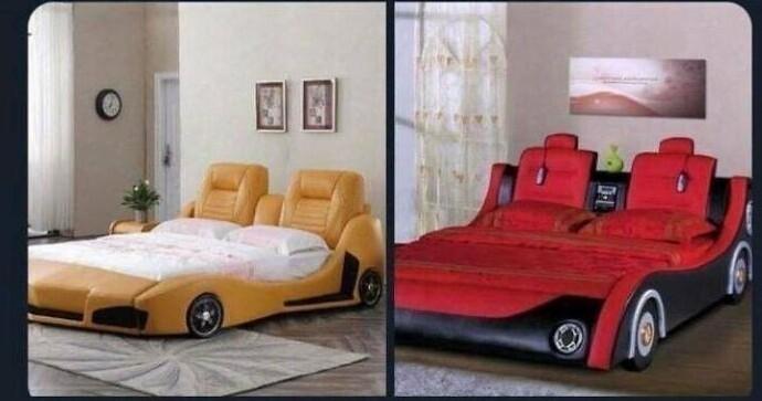 Кровати-машины, оказываются, делают не только для детей, но и для взрослых фанатов гонок!