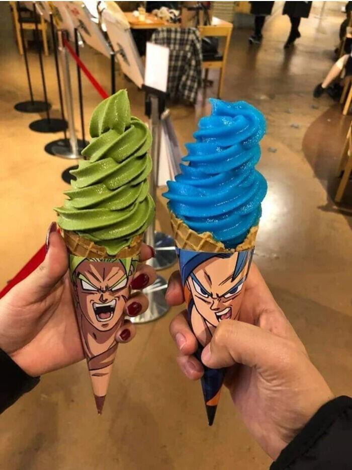 Мороженое для любителей манга в цветах героев