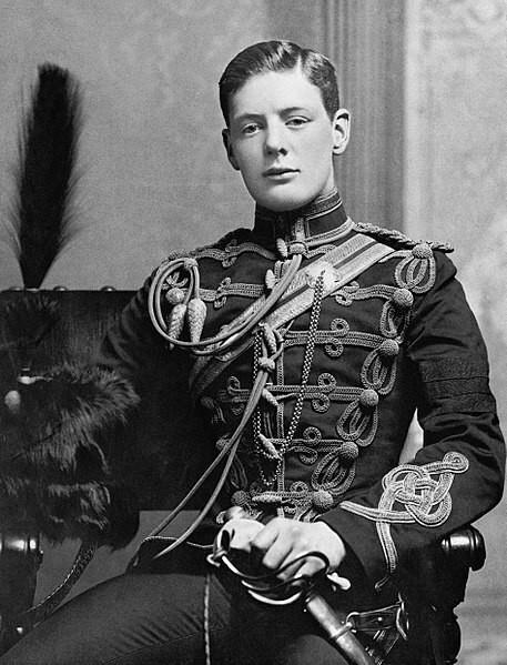 Молодой Уинстон Черчилль