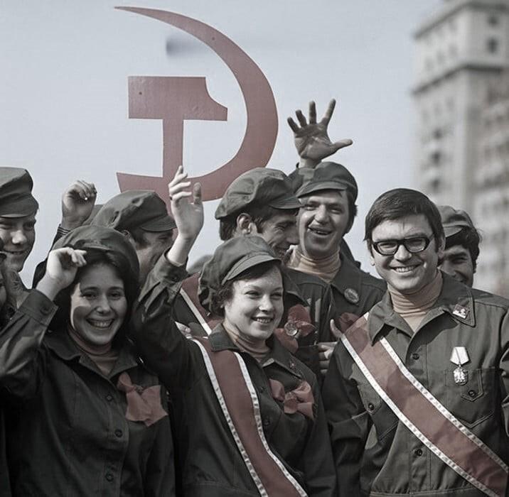 Студенты стройотряда, Москва, 1974 год