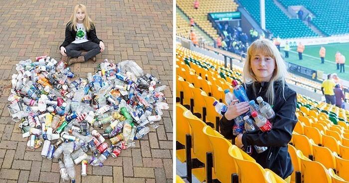 8. 13-летнюю девочку травили одноклассники за то, что она подбирает мусор. Несмотря на травлю, она собрала тысячи литров мусора, большую часть которого отправила на переработку, и стала амбассадором WWF