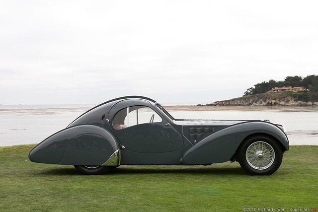 1936 Bugatti Type 57SC Atlantic. Очень креативный дизайн для 1930-х годов