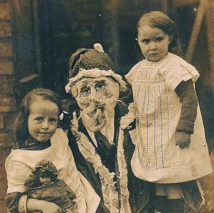 Фото с Санта Клаусом, 1900-е
