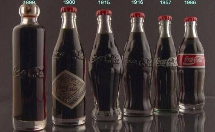 Эволюция бутылки кока-колы