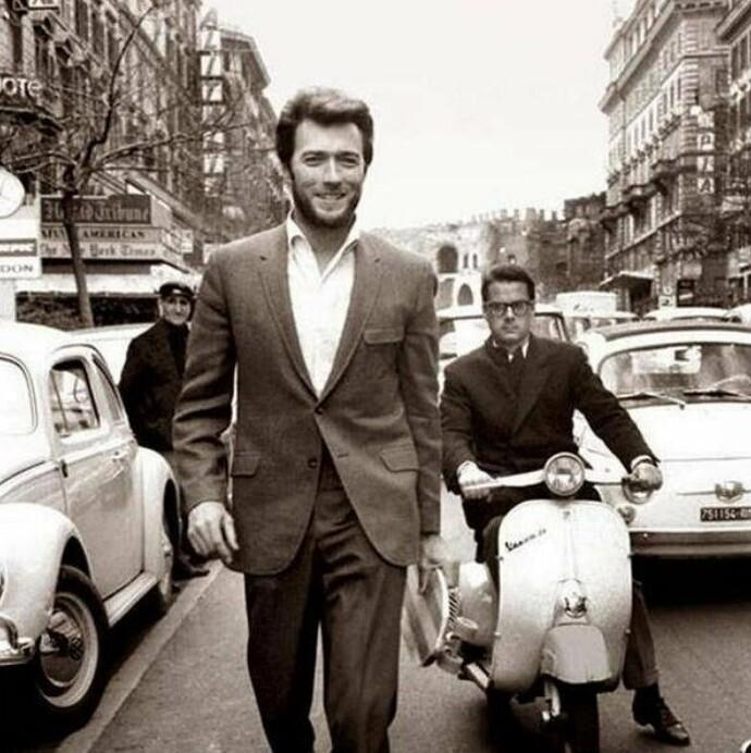 Актер Клинт Иствуд в Риме, 1960-е