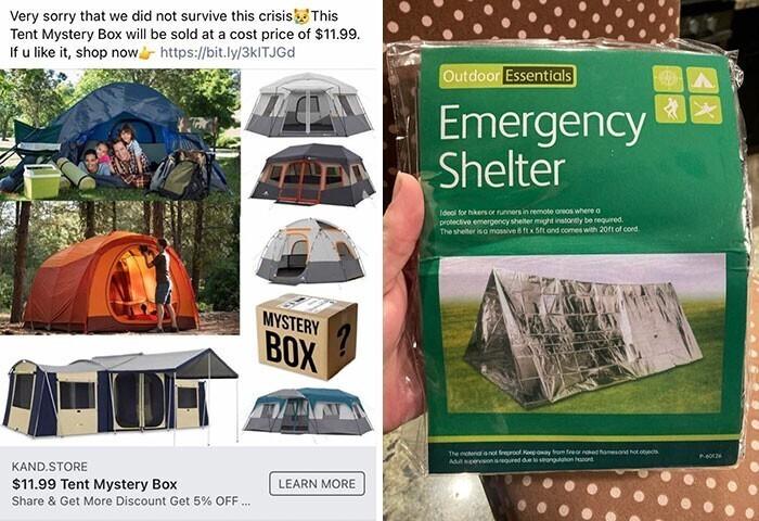 "35. ""Спустя 2 месяца ожидания я наконец получил свою палатку Mystery Tent"""