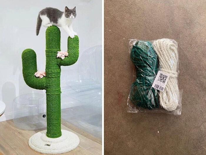 """16. """"Слева - это то, что моя мама заказала для наших кошек, справа - то, что пришло по почте"""""""