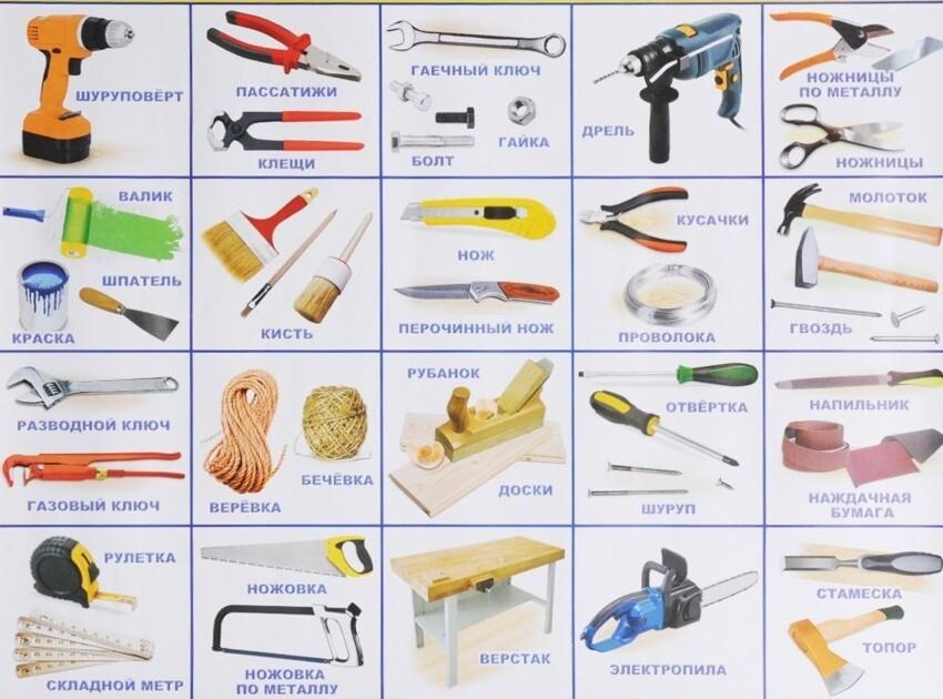 Список инструментов, которые должны быть дома