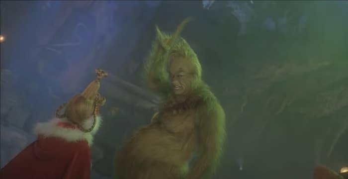 2. Джим Керри, «Гринч – похититель Рождества»