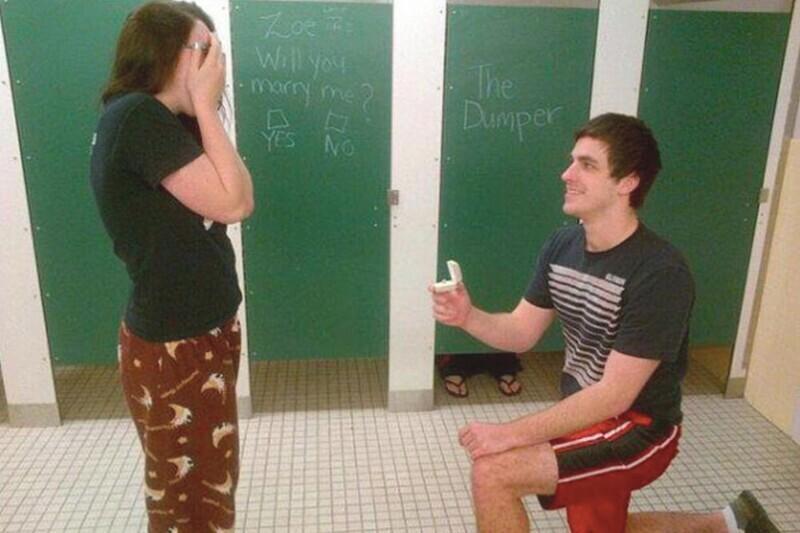 Предложение в туалете