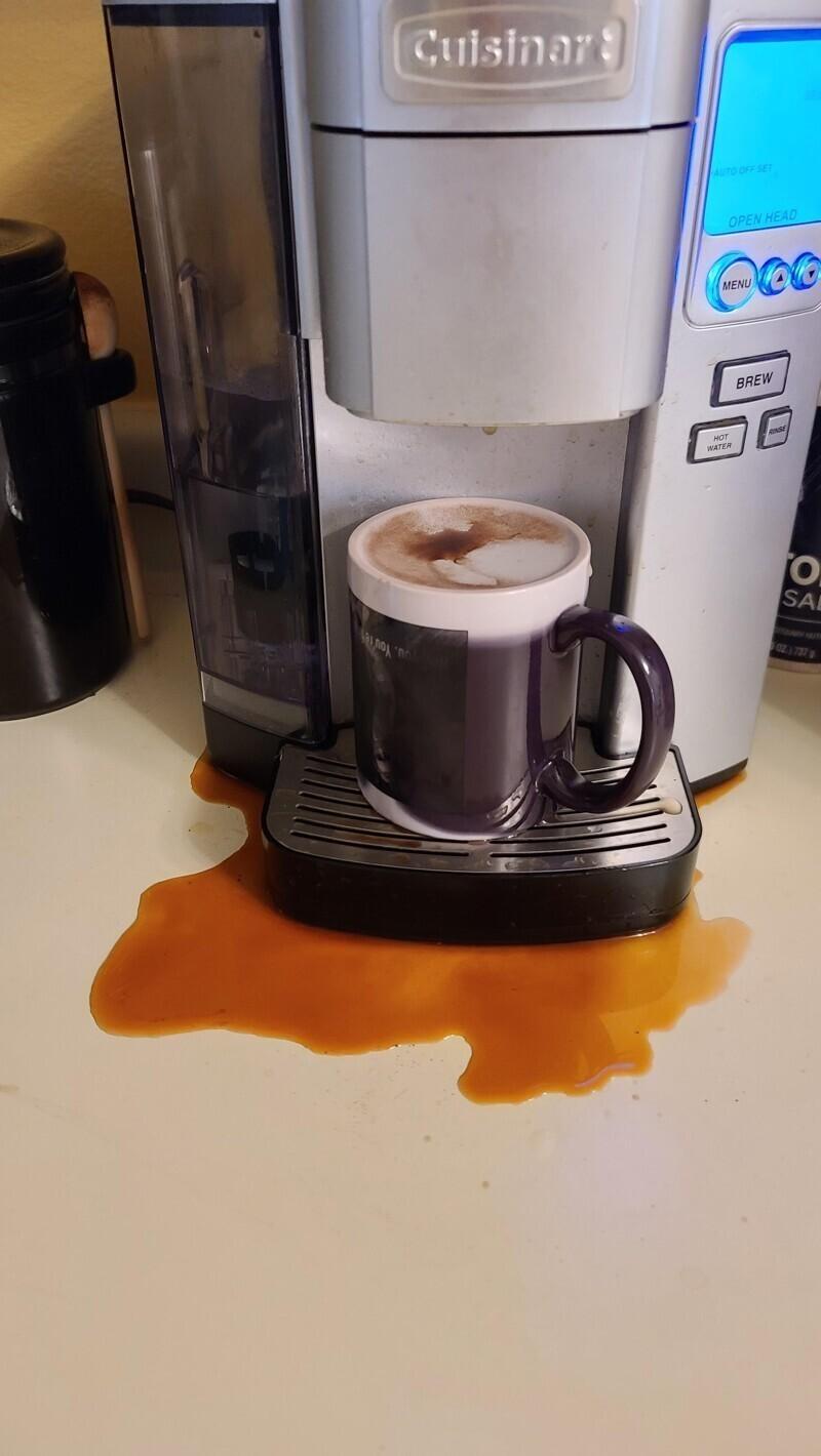 """""""Сварила себе кофе. Вкусный был, наверное"""""""