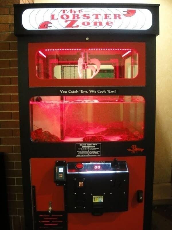 Автомат с омарами в Лас-Вегасе