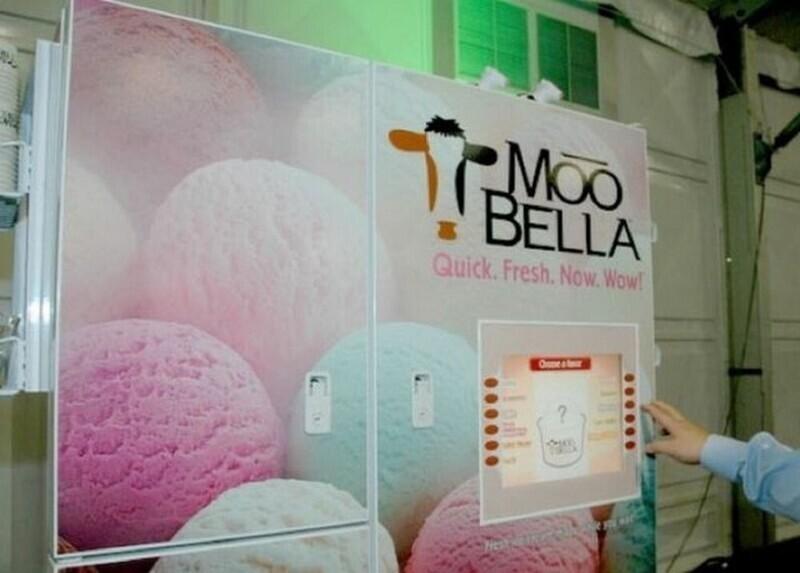 Торговый автомат с мороженым в США