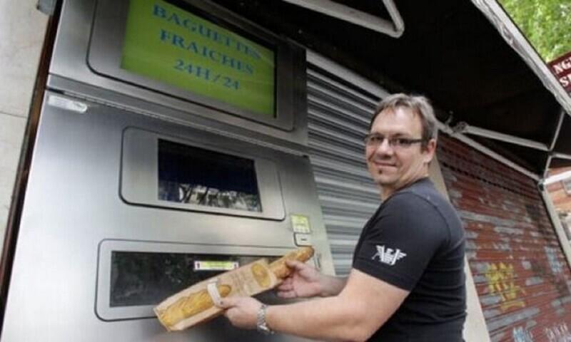 Автомат с багетами из Франции