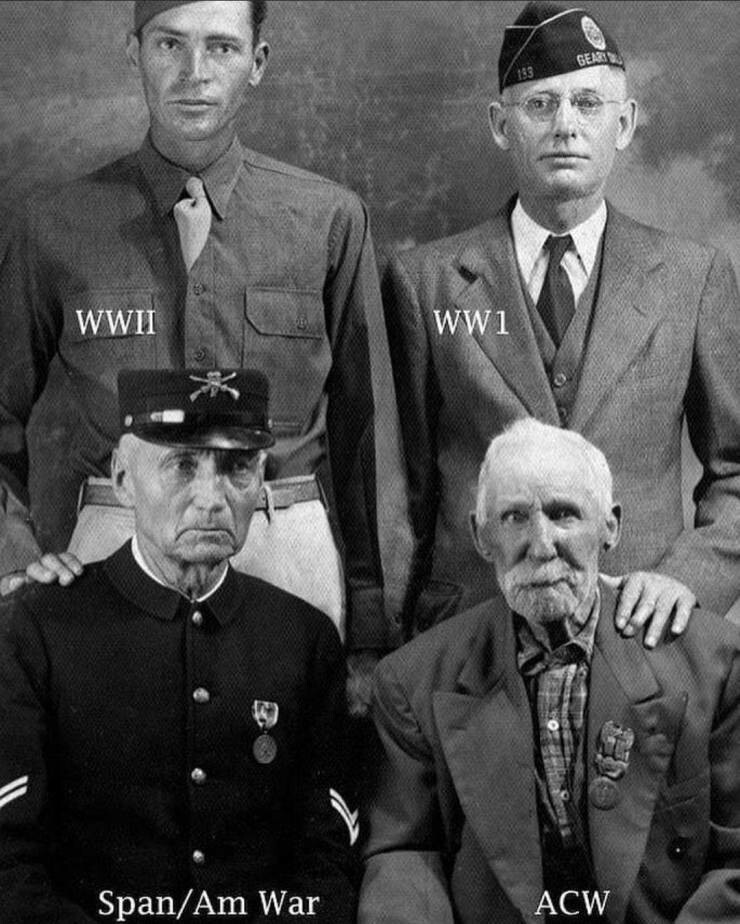 34. Четыре человека из одного города, которые сражались в четырех разных войнах