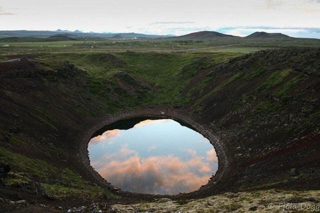 Озеро или дырка в горе