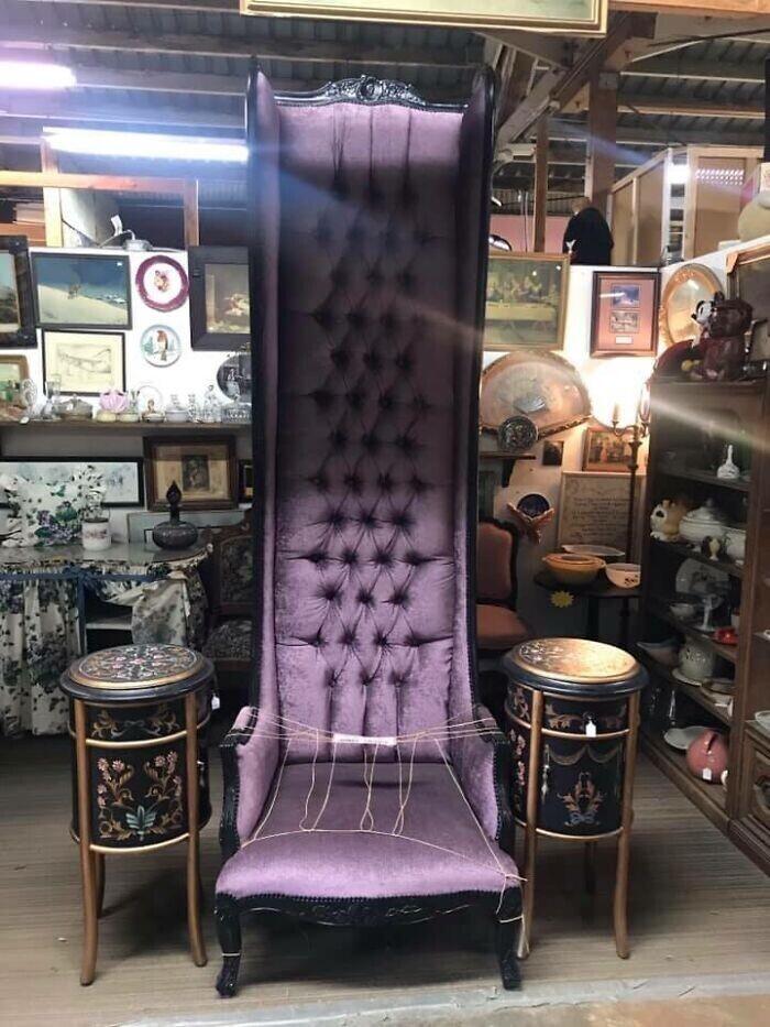 """15. """"Потрясающее кресло, видела его комиссионном магазине. Оно уже было продано"""""""