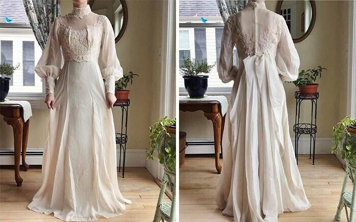"""2. """"Мое винтажное свадебное платье эдвардианской эпохи из комиссионки, стоило мне всего 6,99 доллара"""""""