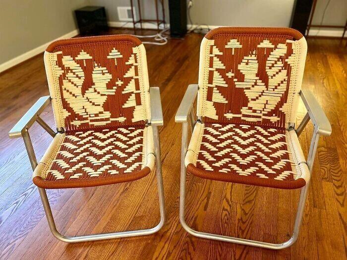 """22. """"Увидел вот такие плетеные складные стулья, не смог устоять"""""""