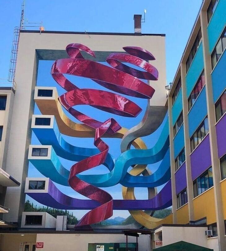 Граффити, посвященное врачам в Британской Колумбии, Канада