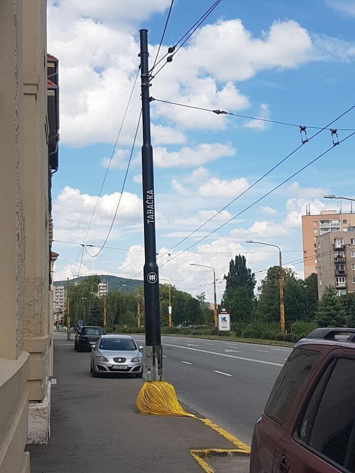 Уличный фонарь в форме кисточки