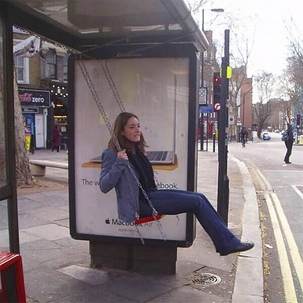 Чтобы не скучать в ожидании автобуса